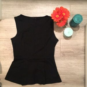 Simple Black Peplum Top